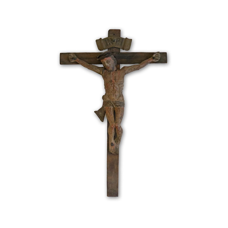 antikes Kreuz mit Christus