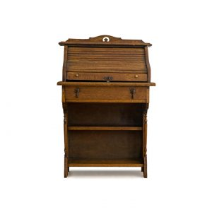 antique desk with roller shutter