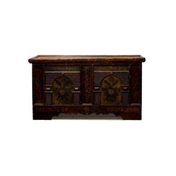 painted antique chest