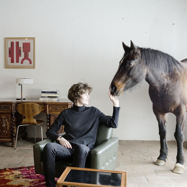 Pferd mit Posch Antiquitäten