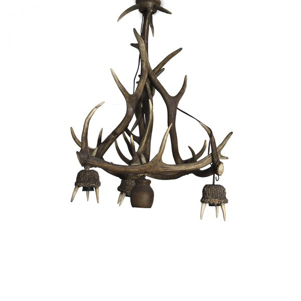 antique antler lamp