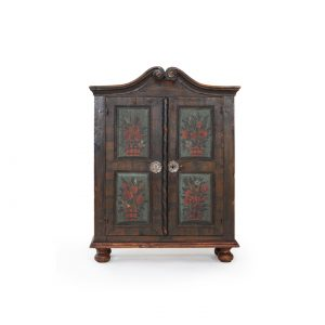 antique austrian painted little cabinet