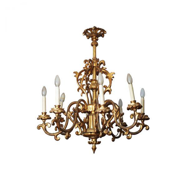 antique golden austrian chandelier