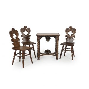 austrian antique table and chairs in historism