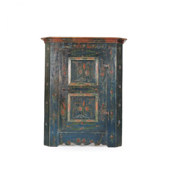 austrian antique painted farmhouse wardrobe