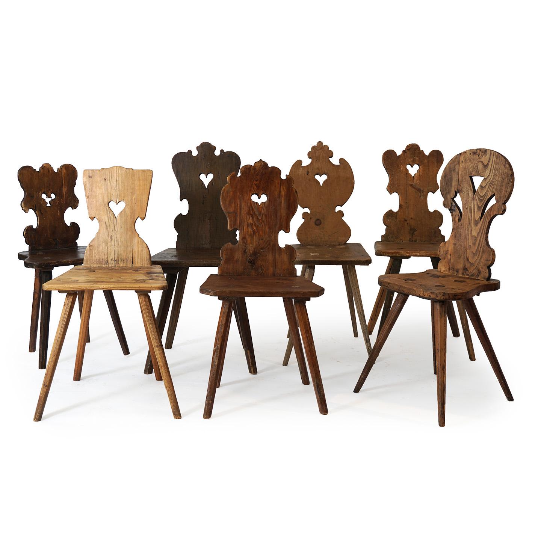 austrian antique farmhouse chairs